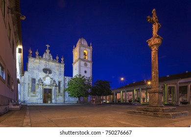 Aveiro city cathedral by night into Portugal