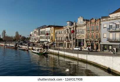 Aveiro, nicknamed the Venice of Portugal with its canals, Portugal