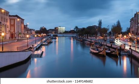 Aveiro, Portugal - 04.12.2017 Long exposure of Aveiro's Canal at twilight