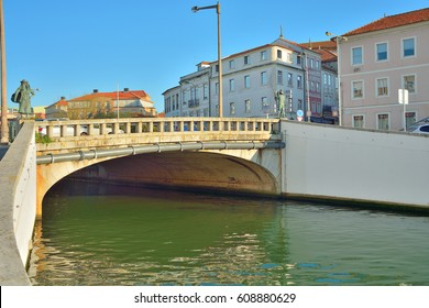 Aveiro, Portugal - 09 march 2017: Bridge over canal in Aveiro city