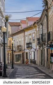 AVEIRO, PORTUGAL - APRIL 20, 2017: Street view of Historic Center of Aveiro.