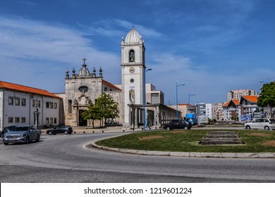 AVEIRO, PORTUGAL - APRIL 20, 2017: Cathedral of Aveiro or Church of St. Dominic (Igreja de Sao Domingos, founded in 1423) - Roman Catholic cathedral.