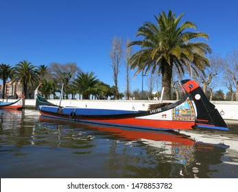 Aveiro, Portugal - Feb,16, 2016: Aveiro is a portuguese city famous for it´s rivers, called Ria and its colourful boats.