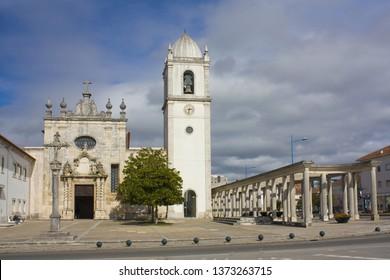 AVEIRO, PORTUGAL - March 3, 2019: Cathedral of Aveiro or Church of São Domingos in Aveiro