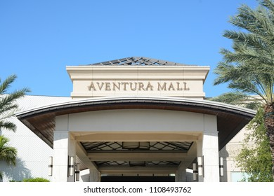 AVENTURA, FL - DECEMBER, 4, 2017: Aventura Mall is one of the biggest shopping malls in Miami, USA