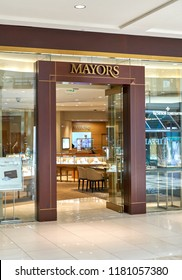 AVENTURA, USA - AUGUST 23, 2018: Mayors famous boutique in Aventura Mall. Mayors sells jewelry and timepieces of most iconic brands