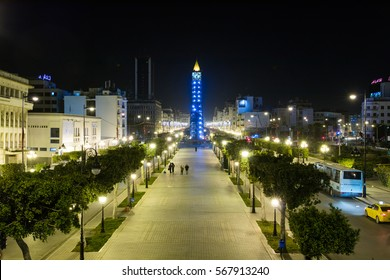 Avenue Bourguba. Tunis Downtown