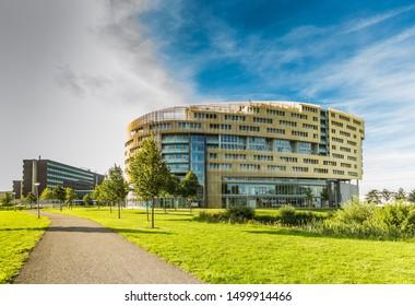 Avenue of the Continents, Alphen aan den Rijn, South Holland, Netherlands, August 23, 2019: Living and working Da Vinci Building