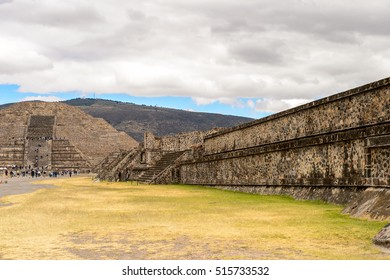 Avenue of the Dead of Teotihuacan, site of many Mesoamerican pyramids built in the pre-Columbian Americas. UNESCO World Heritage