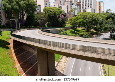 Avenue viaduct on May 23 in sao paulo