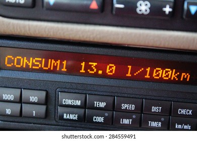 Average consumption on Car board computer display