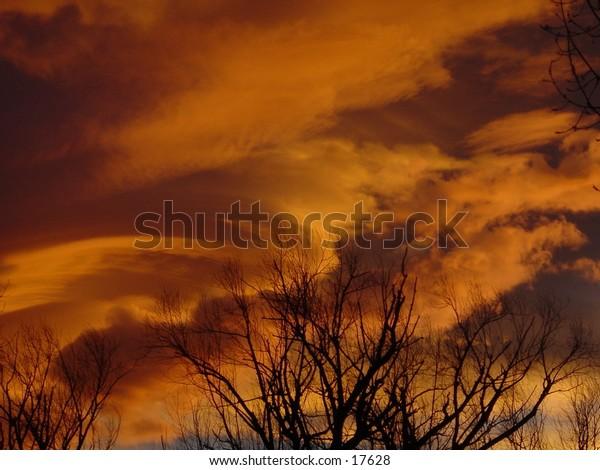 An average sunset in Boulder, Colorado.  Taken in winter.