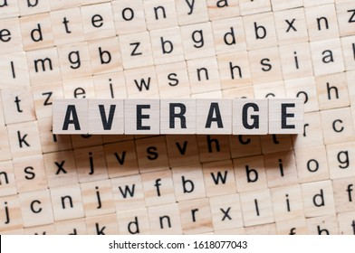 Average word concept on cubes