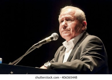 Avi Dichter, Israeli politician, ex-Minister of Internal Security and Shin Bet (also known as Shabak) director, speaking at the World Summit on Counter-Terrorism in Herzliya, Israel. September 2012