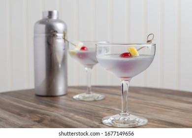 The Aviation cocktails with shaker