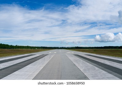 Aviation / Laesoe / Denmark: Runway of the small airfield in Byrum