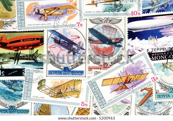 Aviation theme stamps