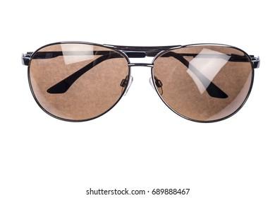 Aviator sunglasses isolated on white background