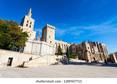 Avignon Cathedral and Palais des Papes Cathedral in Avignon city, southern France