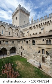 AVIGNON, FRANCE - AUGUST 11, 2017: Papal palace in Avignon, France