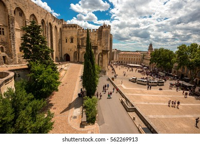 AVIGNON, FRANCE, JULY 14, 2016: Palais des Papes (Papal palace) in Avignon, southern France