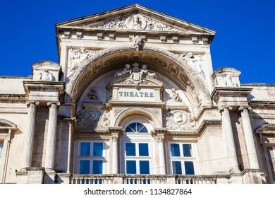 AVIGNON, FRANCE - MARCH, 2018: Opera Grand Avignon Theatre at Place de l'Horloge in Avignon France