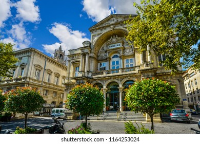 Avignon, France - September 22 2017: The Opéra d'Avignon is an opera house located in Avignon, France that has been in operation for almost two centuries.