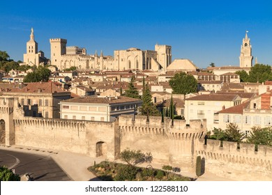 Avignon in Provence - View on city and Popes Palace