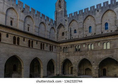 AVIGNON, PROVENCE/FRANCE - JULY 07 2016 : View of Palace of Popes in Avignon, Provence, France. Avignon is a city on the Rhone River in the Provence region of southeastern France.