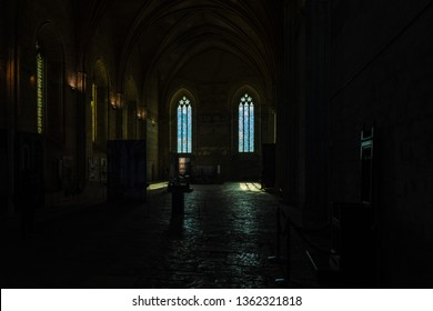 AVIGNON, PROVENCE/FRANCE - JULY 07 2016 : View inside the Palace of Popes in Avignon, Provence, France. Avignon is a city on the Rhone River in the Provence region of southeastern France.
