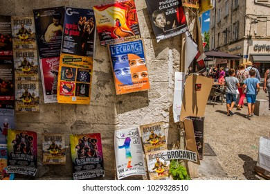 Avignon/France - 07 14 2016: Avignon theatre festival in summer 2016