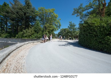 Avignon/France - August 10 2016: Les Jardin des Doms park, in Avignon, France. Avignon is a city in south-eastern France in the department of Vaucluse on the left bank of the Rhône river.