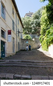 Avignon/France - August 10 2016: Rue des Escaliers Sainte-Anne street, in Avignon, France. Avignon is a city in south-eastern France in the department of Vaucluse on the left bank of the Rhône river.
