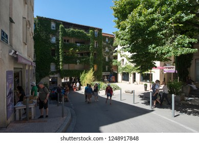 Avignon/France - August 10 2016: Rue Pente Rapide street, in Avignon, France. Avignon is a city in south-eastern France in the department of Vaucluse on the left bank of the Rhône river.