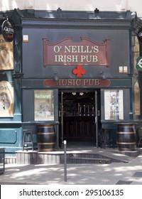 avignon,france-june 19, 2015: Irish pub in the centre of avignon France