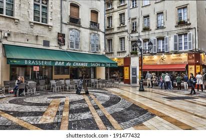 AVIGNON,FRANCE-NOV 02:Morning hours in Place du Change in Avignon on 02 November 2013. Avignon is a famous city in Provence in south of France.