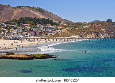 Avila beach--a very popular whale watching destination in California,  located south of San Luis Obispo and right off Pacific Coast Hwy