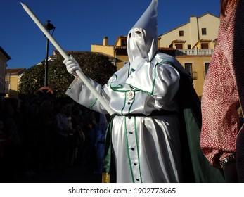 Avila, Spain; 03.30.2015: Brotherhood of the Hope and Health (Original: hermandad de la Esperanza y la Salud), through the streets of Avila