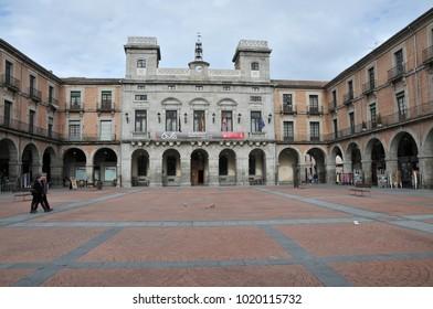 Avila, Spain - November, 04, 2015: the historic market square