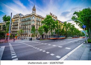 Avinguda Diagonal street in Barcelona