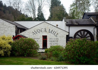 AVOCA, IRELAND - APRIL 16: Weaving mill 16 April, 2017 at Avoca, Ireland. Avoca has the oldest weaving mill in Ireland dated back from 1723.