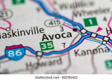Avoca. New York (State). USA.