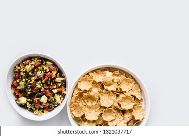 Avocado Bean Salsa with Chips
