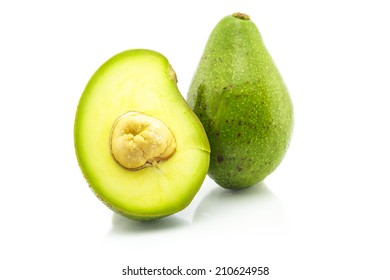 Avocado: Butter of the Forest on the white background.