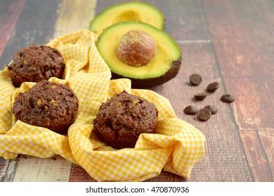 Avocado chocolate muffins