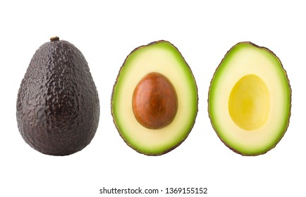 avocado, clipping path, isolated on white background full depth of field