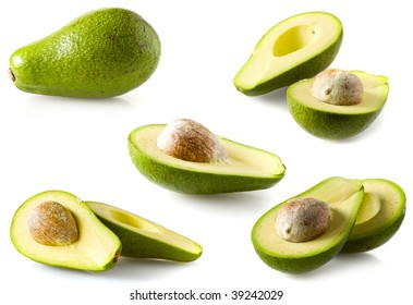 avocado collage isolated