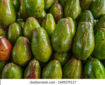 Avocado fruit group sell in the market