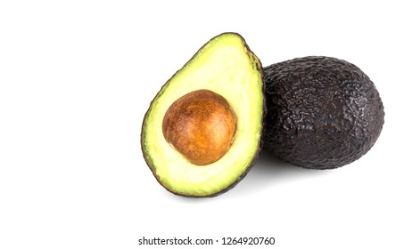 avocado fruit isolated on white background