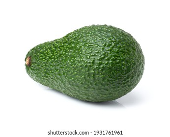 Avocado fruit isolated on white background. Clipping path.